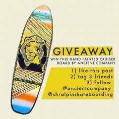 GIVEAWAY  Enter to win this handpainted cruiser deck from our friends @ancientc…