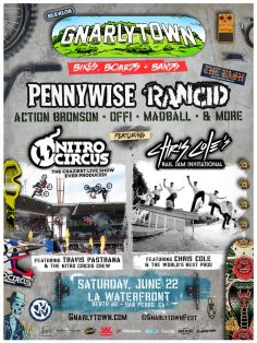 KLOS Presents Gnarlytown: Bikes, Boards & Bands Celebrating SoCal's Passion For Action Sports & Punk Rock On Saturday, June 22 At LA Waterfront Berth 46 In San Pedro, CA