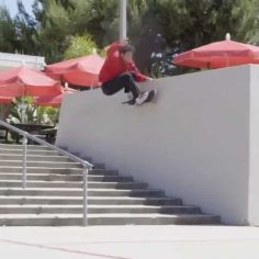 Going the distance with @coreyglick_  on this frontside wall ride : @anttravis #…