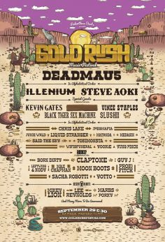 Goldrush Releases First Round Lineup Joining Headliners Deadmau5 And Steve Aoki, September 29 And 30, 2018