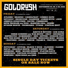 Goldrush Music Festival Announces Phase 02 Lineup And Artist-by-day Returning, September 24, 25, And 26, 2021