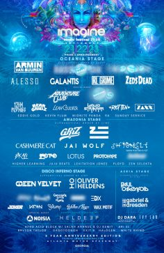 Imagine Music Festival Celebrates 5th Anniversary With Monstrous First Round Lineup At Atlanta Motor Speedway, September 21-23, 2018