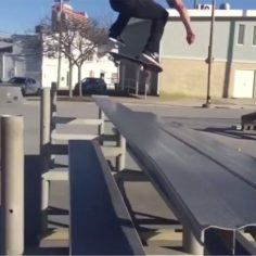 Perfect backslide flip by @weckingball…