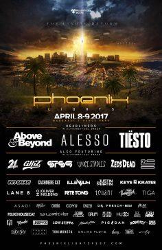 Phoenix Lights 2017 Complete Lineup