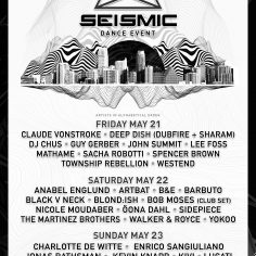 Seismic Dance Event Announces Artists-by-day Schedule For 3.3 Edition