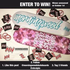 Enter to win this huge package from @morningwoodskateboards   1. Like this post …