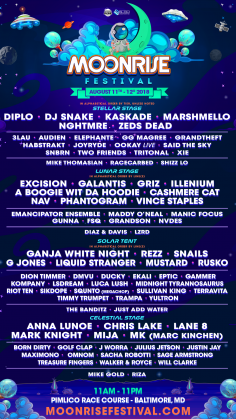 Moonrise Festival 2018 Returns to Pimlico Race Course August 11th and 12th