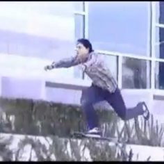 """""""#tbt with Mr. Kirchart in 1997, to say this kickflip is light years ahead of it…"""
