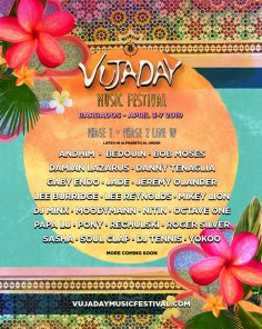 Vujaday Music Festival In Barbados Announces Phase Two Lineup With Damian Lazarus, Andhim, Danny Tenaglia, Pony, Gaby Endo, Papa Lu, And Roger Silver