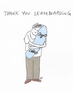 What are you thankful for?  We are thankful for  #skateboarding  Artwork: @henry…