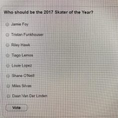 Who are voting for #SOTY @thrashermag…